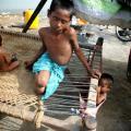 Vluchtelingen in Sindh.